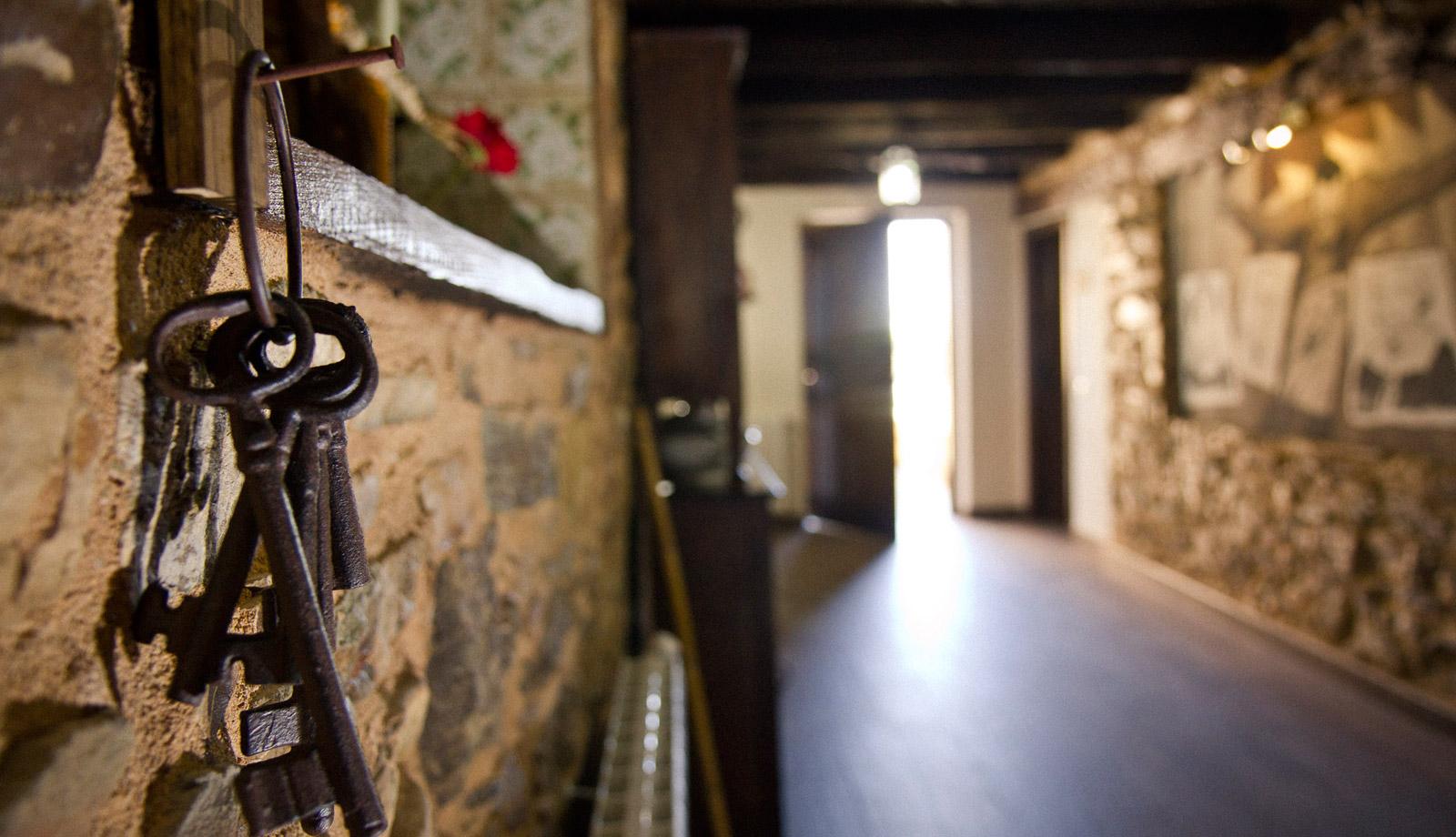 Detalle del pasillo interior inferior de Casa da Lembranza