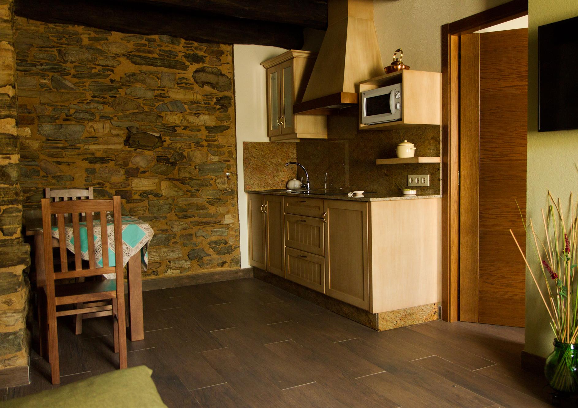 Salón cocina del Apartamento Curros Enríquez