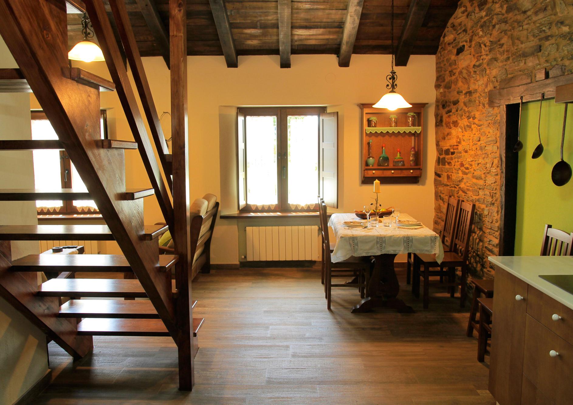 Salon cocina del apartamento Castelao