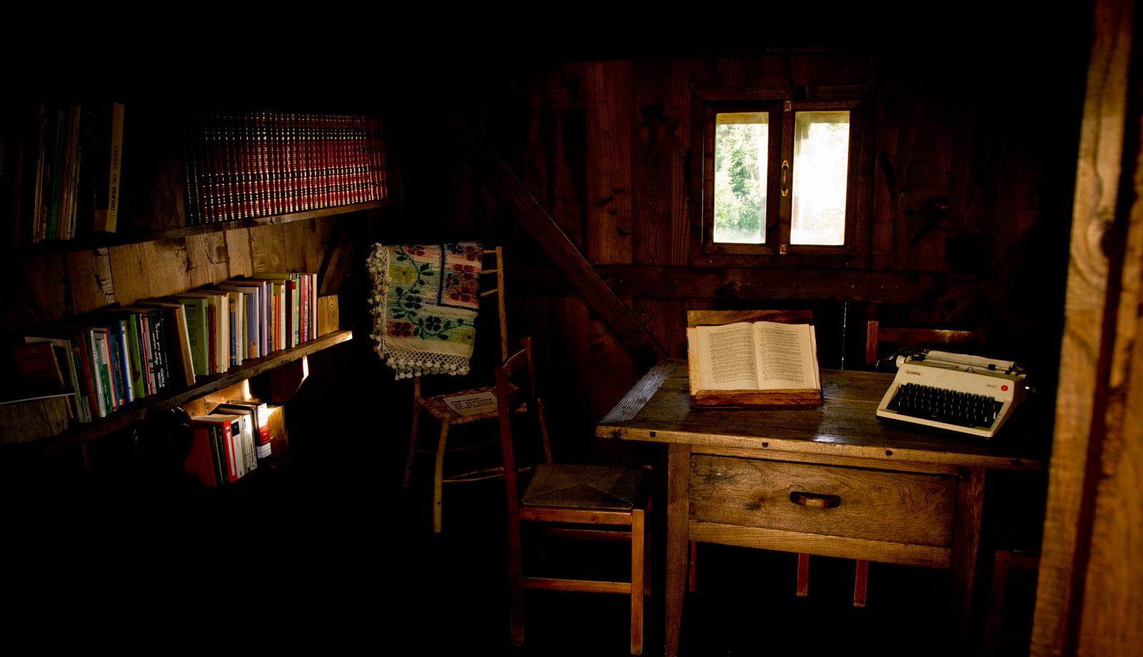Interior de la biblioteca del horreo